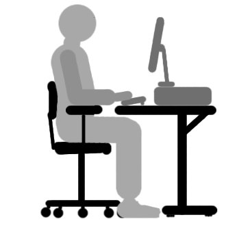 I find it difficult to adjust my chair when sat at my computer