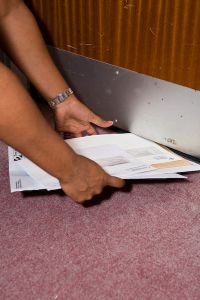 Do you need to pick up your post from the floor?