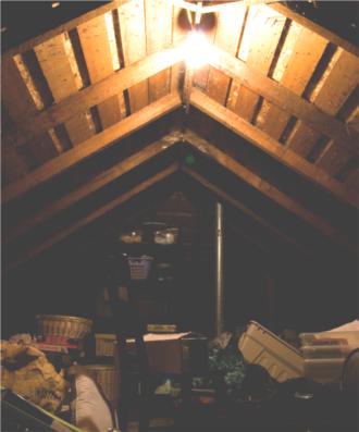 I use a cellar, basement, attic or loft for storage