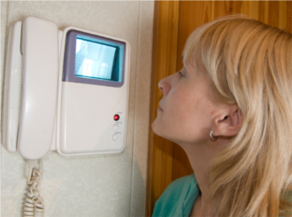 Do you have a door viewer, video phone or window in or near the front door?