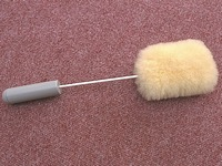 Long Bendable Handled Sheepskin Pad