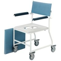 Dual Mobile Shower Chair With 4 Braked Castors