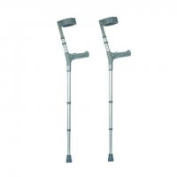 Double Adjustable Elbow Crutches With Comfy Handle