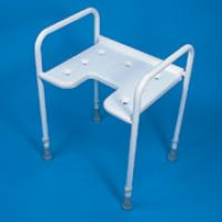 Adjustable Height Gap Front Shower Stool