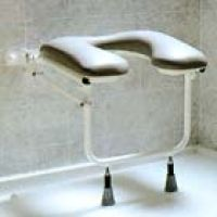 Padded Horseshoe Folding Shower Seat