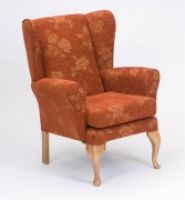 Queen Anne Winged High Back Chair