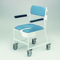 Deluxe Mobile Dual Shower Chair Commode