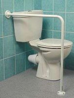 Floor To Wall Toilet Support Rail