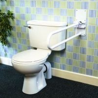 Devon Deluxe Folding Toilet Support Rail With Leg