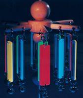 Fluorescent Mirror Chime Mobile