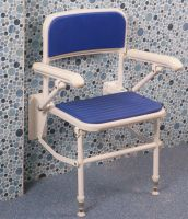 Wall Fixed Folding Shower Seat With Support Arms