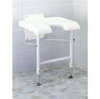 Wall Mounted Folding Shower Seat With Cut Out