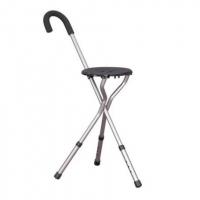 Walking Stick with Seat - Folding Flipstick Cane for Travel, Hiking