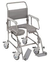 Transaqua Stainless Steel Attendant Propelled Shower Chairs