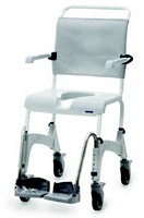 Aquatec Ocean Attendant Propelled Shower Commode Chair