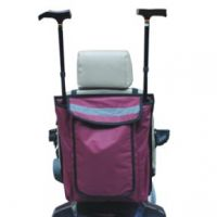 Wheelchair-scooter Bag With Walking Stick-crutch Holder