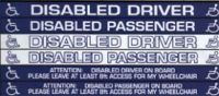Car Window Stickers For Disabled Drivers And Passengers