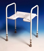 Adjustable Height Gap Front Shower Stool