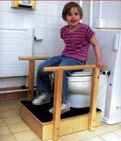 Toilet Platform With Handrails