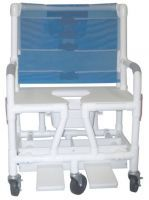 Bariatric Wheeled Shower Commode Chair With Swingaway Arms