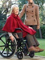 Contoured Wheelchair Shawl