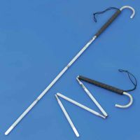 Ambutech Reflective Long Canes With Crook Handle And Pencil Tip