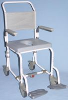 Oyster Wheeled Attendant Shower Commode Chair