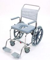 Oyster Wheeled User Propelled Shower Commode Chair