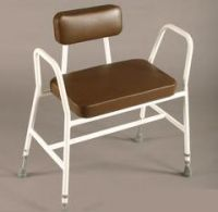 Bariatric Shower-perching Stools With Pvc Seats