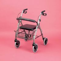 Four-wheeled Rollator With Cable Brakes