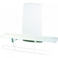 Amber Powered Variable Height Shower Stretcher With Adjustable Backrest & Side Rail 190cm