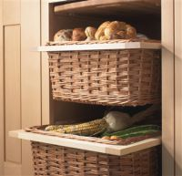 Wicker Basket Drawers With Handles And Runners