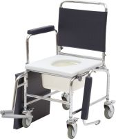 York Adjustable Mobile Commode With Footrest