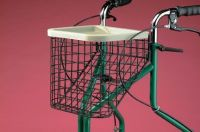 large basket and tray for three wheeled rollator