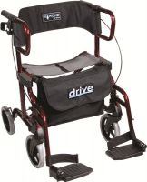 Diamond Deluxe Rollator With Leg Rests