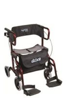 Drive Diamond Deluxe Rollator Transport Chair