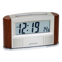 Retro Radio Controlled Talking Calendar Clock With In Out Thermometer