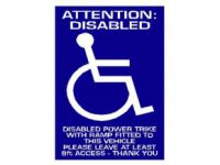 Attention Disabled Car Window Notice