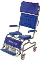 Tilt-in-space Stainless Steel Plus Size Shower Chair