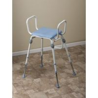 Compact Easy Modular Polyeurathane Perching Stool With Arms