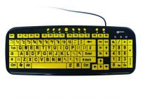 Yellow Multimedia Keyboard With Xl Printed Letters