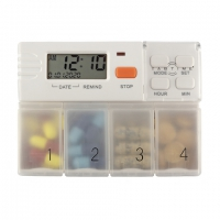 Tabtime 4 Pill Box With Alarm And Large Compartments