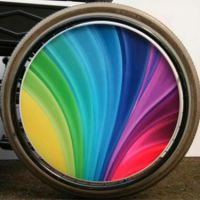 Printed Full Cover Wheelchair Spoke Guards