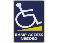 Ramp Access Needed Sticker