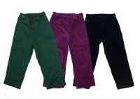 Gorcey Style Trousers Outside Leg Opening With Knee Patch