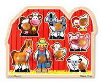 Old Macdonald And Farm Friends Large Peg Puzzle