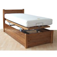 Contemporary Square Wooden Variable-Height Profiling Adjustable Bed