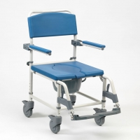 Aston Mobile Attendant Shower Commode Chair