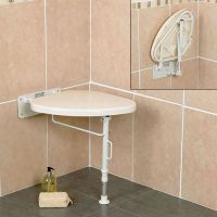White Line Folding Corner Shower Seat