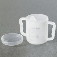 Two Handled Mug With Two Lids
